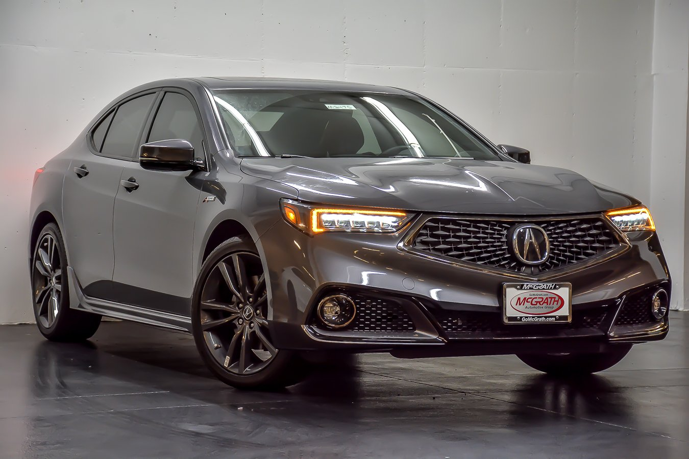 Certified Pre-Owned 2019 Acura TLX w/A-Spec Pkg Red Leather